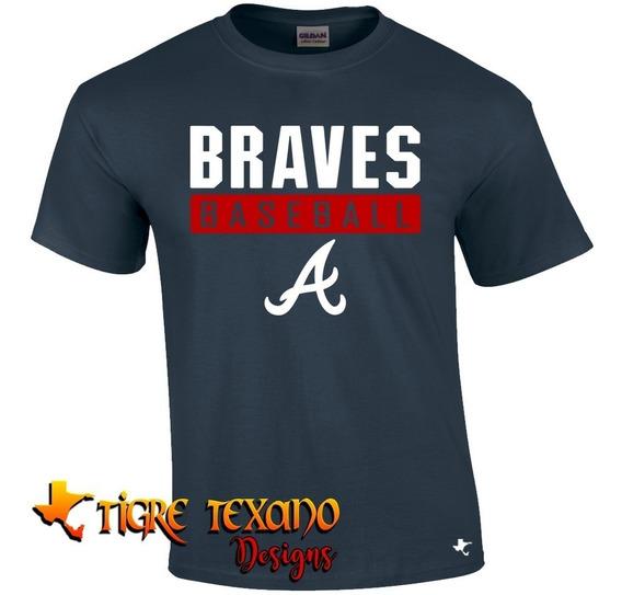 Playera Beisbol Mlb Braves A Mod L By Tigre Texano Designs