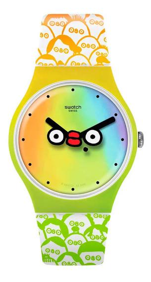 Relógio Swatch Unissex Whats Yo Face Suoz303