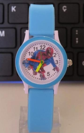 Relógio Do Homem Aranha Azul Bebê Lindo Meninos Oferta