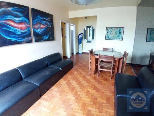 Imagem 1 de 22 de Apartamento Com 2 Dormitórios À Venda, 100 M² Por R$ 550.000,00 - Gonzaga - Santos/sp - Ap5718