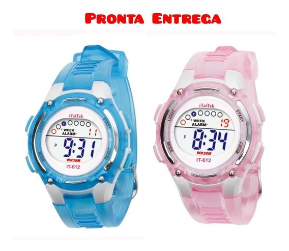 Relógio Infantil Digital Com Alarme E Cronômetro Oferta