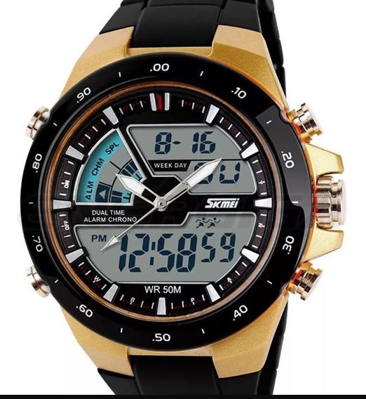 Relógio Masculino Sport Digital Cromado Skmei 1016