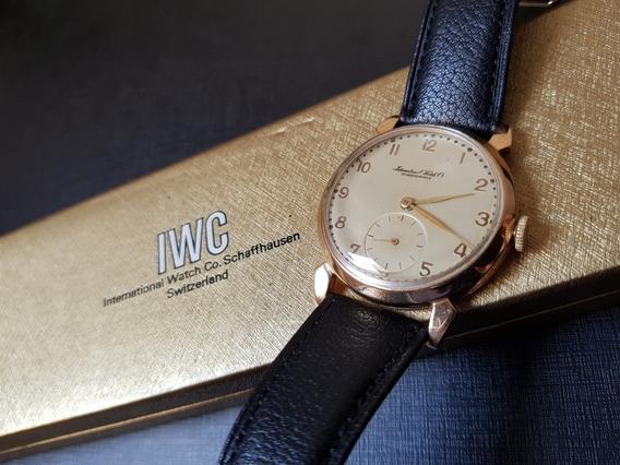 Relógio Iwc Ouro Maciço (pulseira Original Iwc Nova)