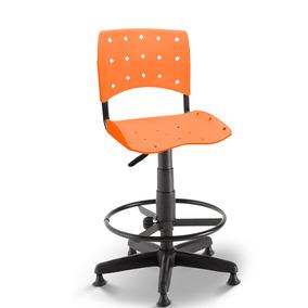 Cadeira Caixa Secretária Balcão Portaria Ergoplax Laranja