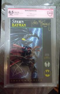 Gibi Hq Spawn E Batman Autografada Cbcs
