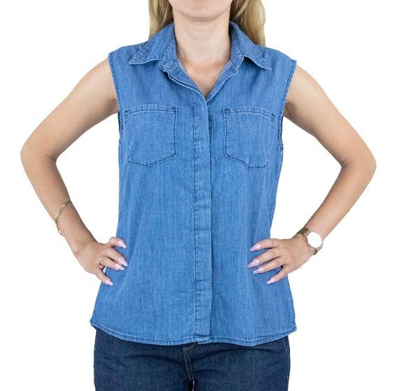 Blusa Innermotion De Mezclilla Para Dama. Estilo 1318