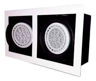 Spot Plafon Embutir 2 Luces Ar111 Apto Led Gu10 Cardanico