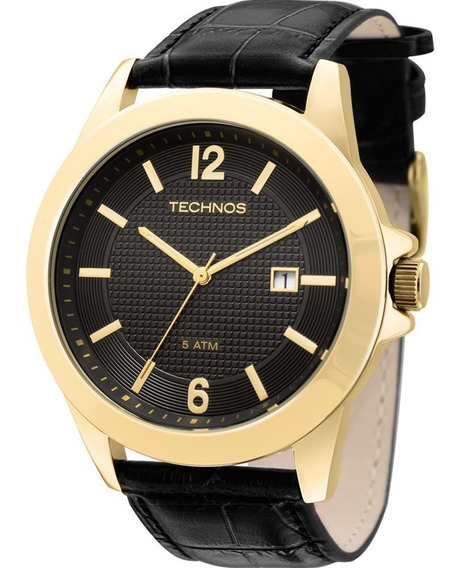 Relógio Technos Masculino Dourado Steel 2115kno/2p