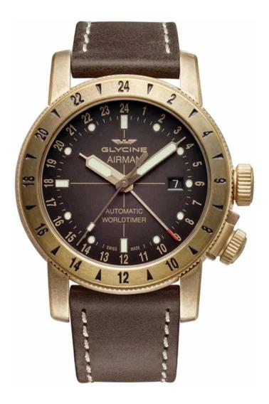 Relógio Glycine Airman 44 Bronze Gmt Auto