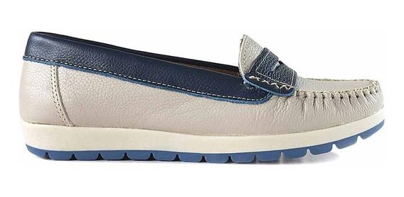 Mocasín Goma Mujer Cuero Premium Zapato Chatita Mcmo03587