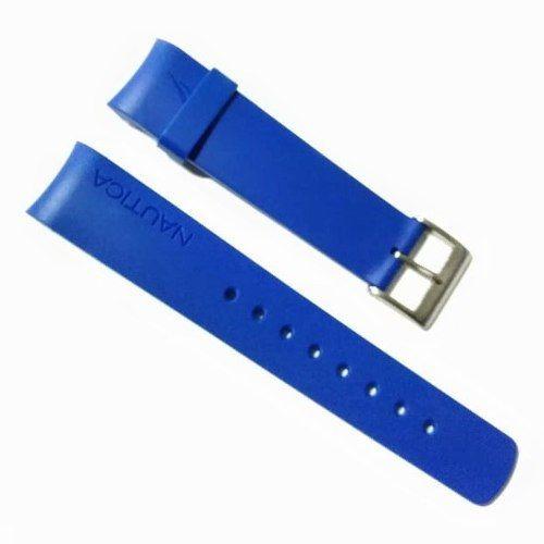 Pulseira Náutica 22mm Azul Royal Borracha Silicone