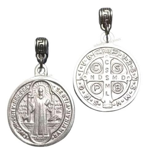 Medallón De San Benito C/ Cadena De Acero ++ Consagrado ++