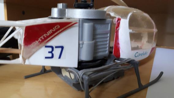 Helicoptero Rc Drone Brinquedo Antigo Controle Remoto