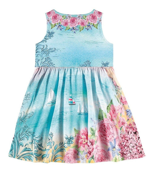 Roupa Infantil Menina Vestido Casual Alakazoo