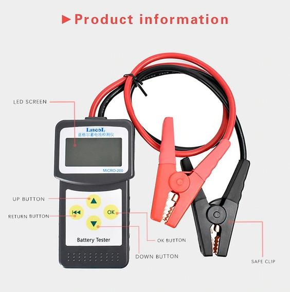 Testador Digital Bateria Automotiva Lancol Micro 200