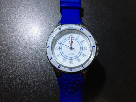 Relógio Tommy Hilfiger Sport Branco E Azul Usado