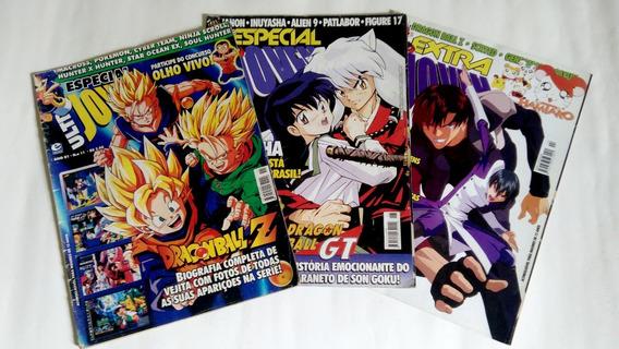 3 Revistas Ultra Jovem Especial Extra Dragon Ball Inuyasha