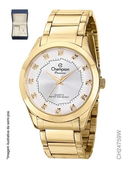 Relógio Feminino Dourado Champion Ch24759w