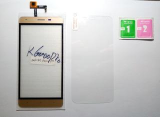 Tela Touch + Pelicula De Vidro K6000 Pro - Cor Dourado