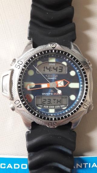 Citizen Aqualand C500 Mostrador Azul Série Prata