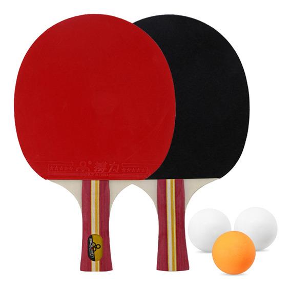 Conjunto De Raquetes De Tênis De Mesa 2 Pás De Pingue-pongue
