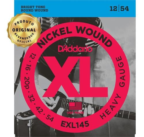 Encordoamento Guitarra Daddario 012 Exl145 Heavy Geh Music