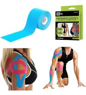 Fita Elástica Adesiva Sports Kinesio Tape Bandagem Rosa Azul