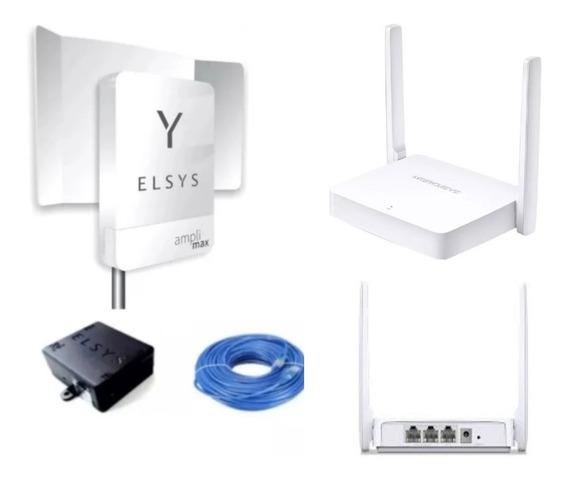 Promoção Kit Amplimax 4g Internet E Telefonia Rural+roteador
