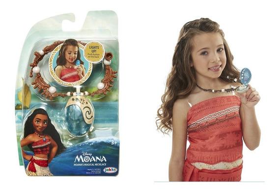 Collar Moana Magico Disney Con Luces Corazon Tefiti