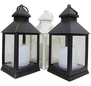 Lanterna Marroquina Luminaria Decorativa Porta Vela Led