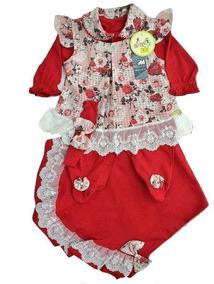 Kit Saída Maternidade Menina Com Vestido 4 Pçs Frete Grátis