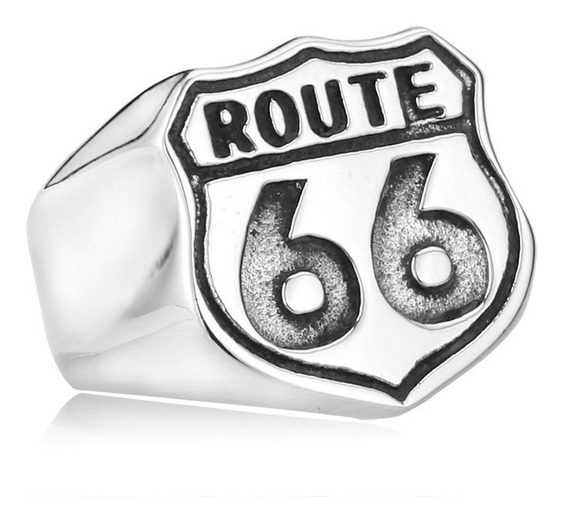Anel Masculino Motoqueiro Route 66 Harley Davidson Rock