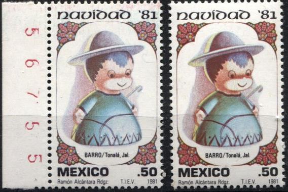 3563 México Diferente Color Luz U V 2 S Mint N H 1981