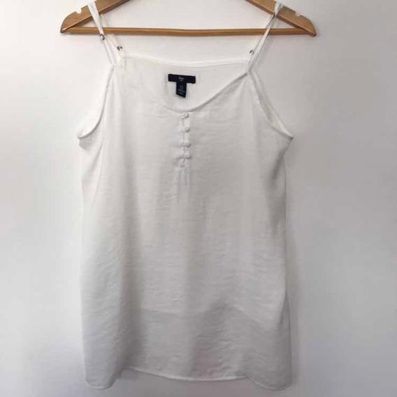 Remera Musculosa Gap Blanca Tipo Seda Talle S Original