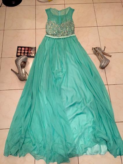 Bonito Vestido Largo Color Menta