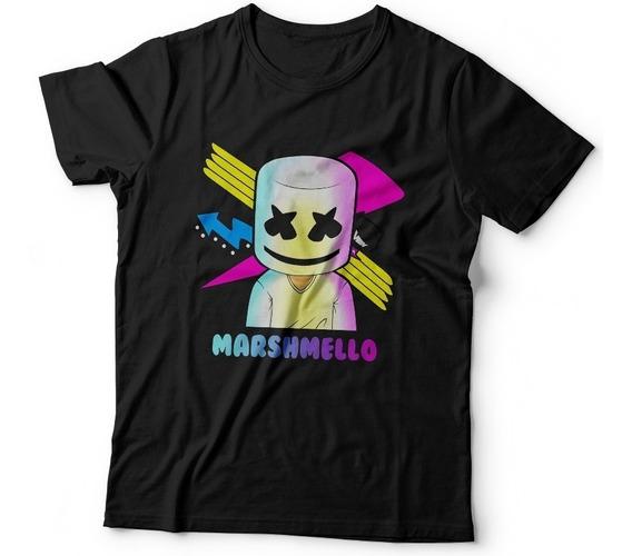Remera Marshmello Electronica Dj 100% Algodon Dtg