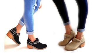 Zapatos Botas Mujer Texanas Charritos Tachas 2018 By Rumié