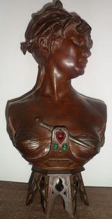 Boheme Oriental,par Colombo,escultura Bronce Año 1885