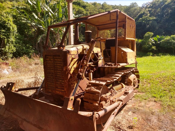 Trator De Esteira D4-e Caterpillar Com Cabine Florestal