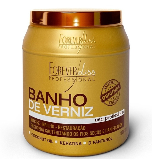 Forever Liss Banho De Verniz Brilho Máscara Hidratante 1kg