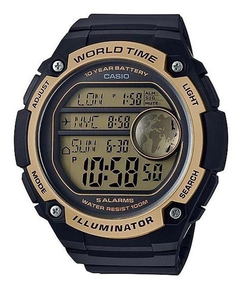 Relogio Casio Ae-3000w Nf 5 Alarme Crono Grande Wr100 Ae3000