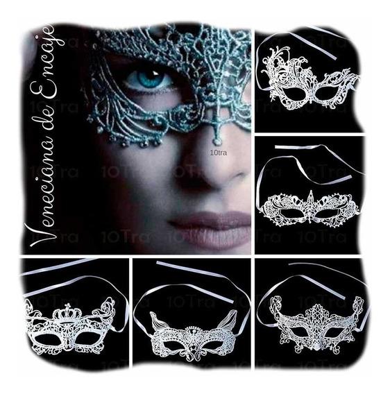10 Mascara Antifaz Encaje Blanco 50 Sombras De Grey Disfraz