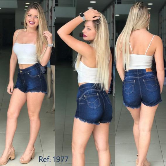 Shorts Jeans Feminino Destroyed E Levanta Bumbum 1977