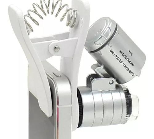 Câmera Microscópio Óptico Claro 65x Lente Para Celular