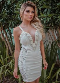 Vestido De Alça Curto Bordado _ Perfect Way