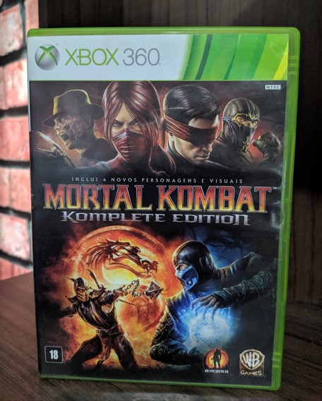 Jogo Mortal Kombat Komplete Editon Xbox 360 (semi Novo)
