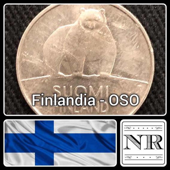 Finlandia - 50 Pennia- Año 1990 - Oso Polar - Km # 66