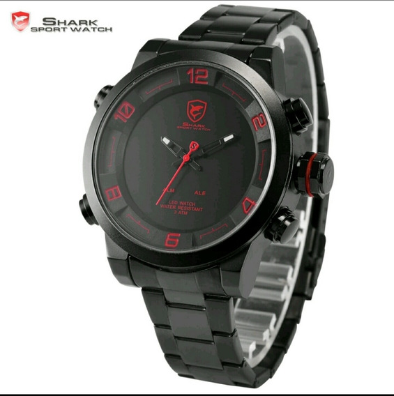 Relógio Masculino Esportivo Shark Sh 201 Led Pronta Entrega