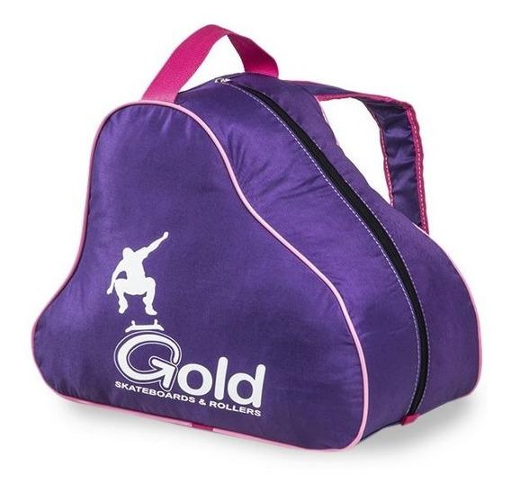 Bolso Mochila Roller - Patin Funda Gold!! @