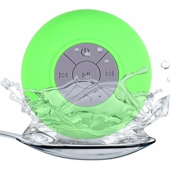 Caixa De Som Bluetooth Caixinha Prova De Agua Ventosa Verde